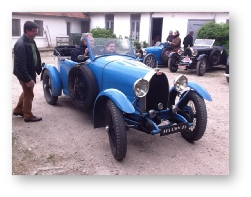 Vintage Bugatti rally at Le Tearoom