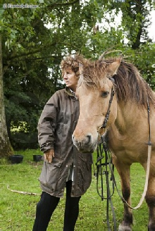 Judy with a Henson horse